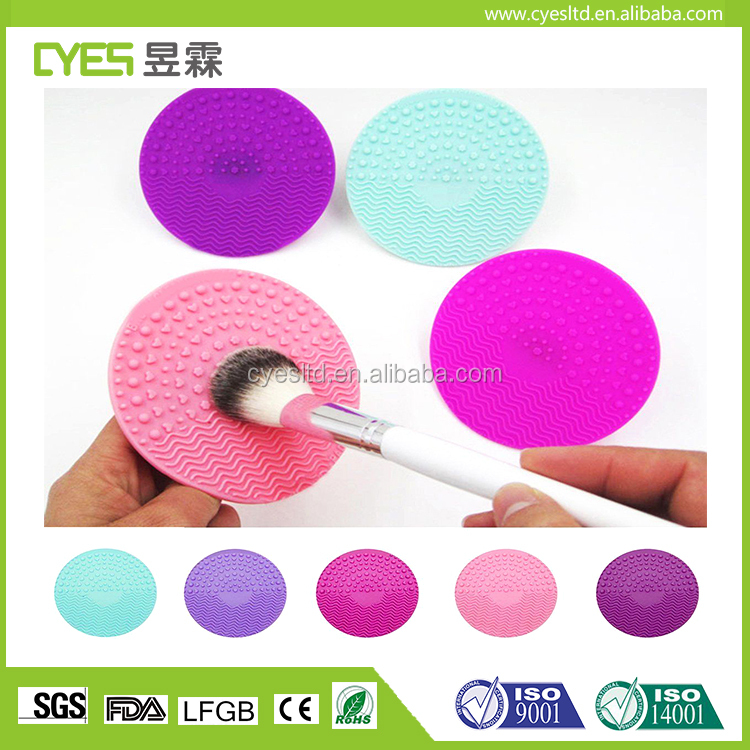 Silicone good looking durable sedex factory makeup brush cleaning mat