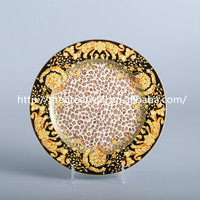 "luxury royal 6""8""10"" bone china dinner plate, decal fruit dishes and plates for star hotel,catering,wedding,Banquet"