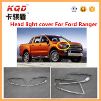 4x4 Accessories For Ford Ranger 2015 chrome abs plastic accessorios for ranger headlight cover head light cover for ranger