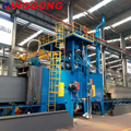 Cladding Steel Sheet roller conveyor shot blasting machine price