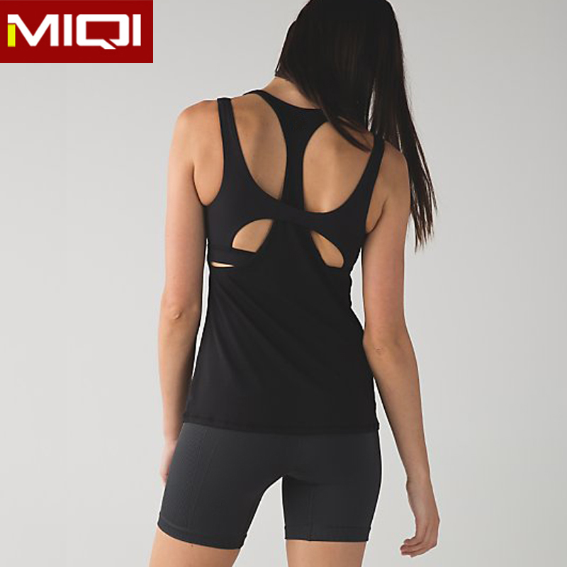 Novel four way stretchy breathable fitness women sports tank tops organic yoga wear