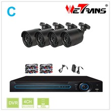 HD 4CH 720P Waterproof Bullet Camera and DVR System Combo CCTV Camera Kit 4 Channel
