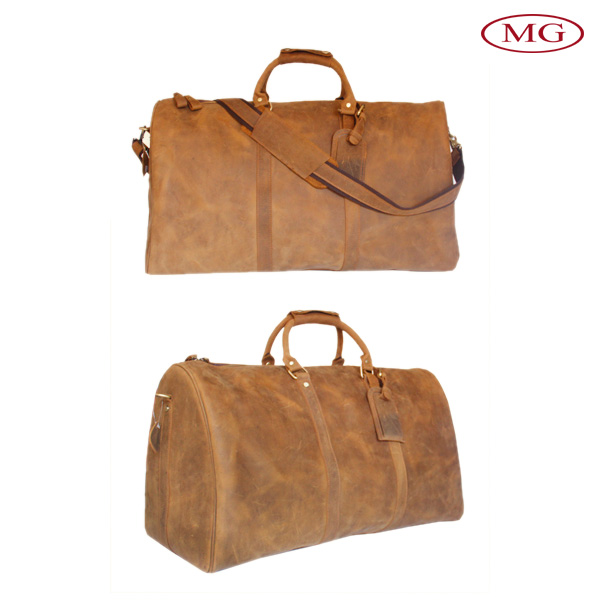 Luggage duffle bags men's genuine leather travel bag