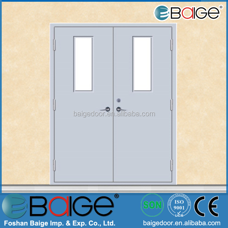 BG-F9007 fire proof rated stable exit door with glass