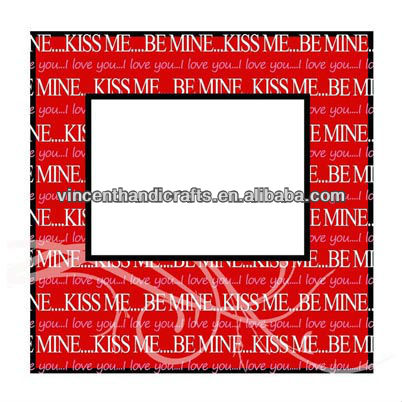 Wedding gift good quality red photo frame with kiss me words