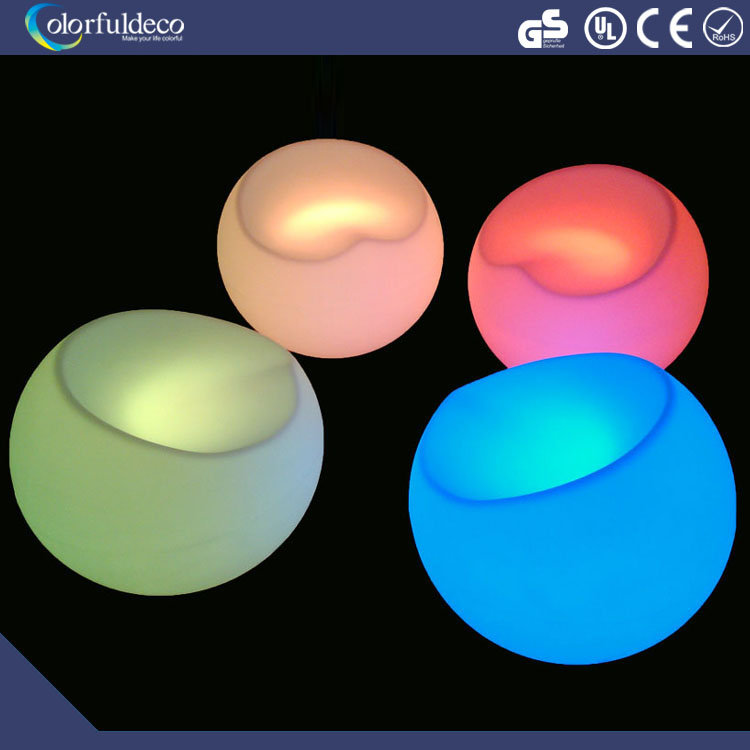 Illuminated home party garden led apple stool and chair