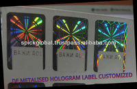 Customized anti fake holographic labels