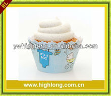 Blue Cupcakes Wrappers, Dessert Supplies for Cup Cake.