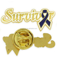 Manufacture survival breast cancer pink ribbon lapel pins
