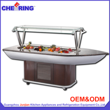 Guangzhou factory buffet equipment hot sale luxury wooden counter cold food display for catering with CE