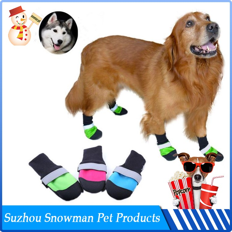 Custom Wholesale Waterproof dog winter boots that stay on
