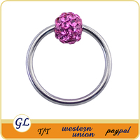 CZ crystal designer BCR nose rings, unique nose rings,attractive design nose ring