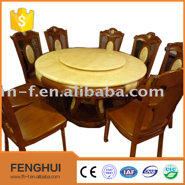 Luxury granite living room furniture round dining table