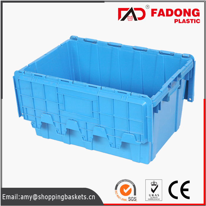 Stackable plastic vegetable storage bins for logistics