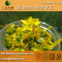 100% Natural St John's Wort P.E. from 3W factory