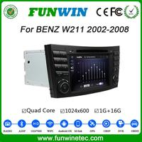 Funwin Android 4.4.4 gps navigation 2 din car dvd with bluetooth for mercedes w211 2002 - 2008 Wifi&3G