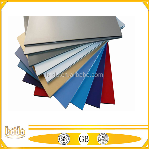 anodized silver rigid ACP bond/ aluminum composite board