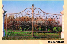 Galvanized luxury wrought entrance iron gate