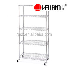 Wire <strong>Shelf</strong> Factory 5 Tiers Steel Stand Rack