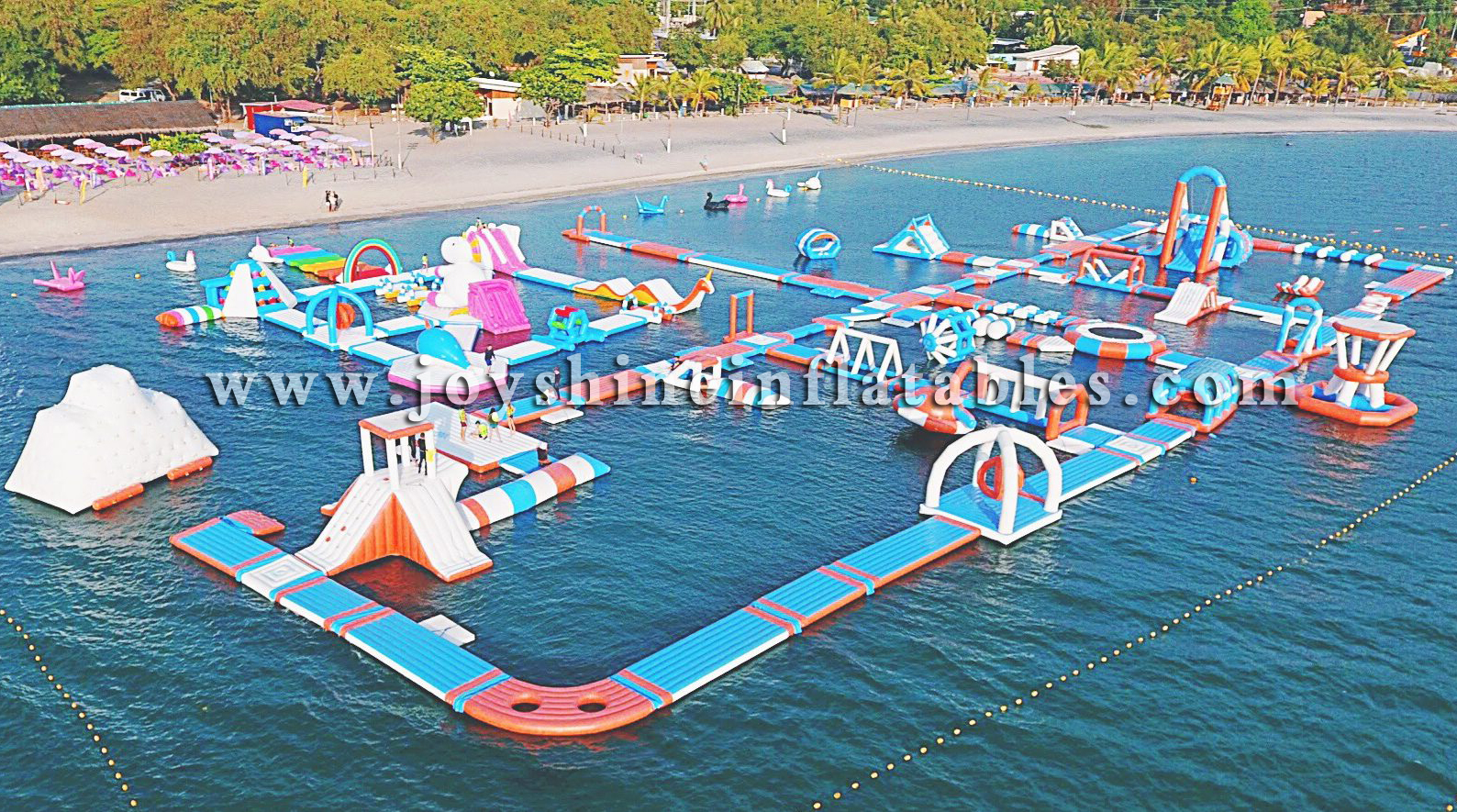 Inflatable Floating Adult Kids Play Water Theme Amusement Aqua Park Sea Beach Water Sports Obstacle Course Playground For Sale
