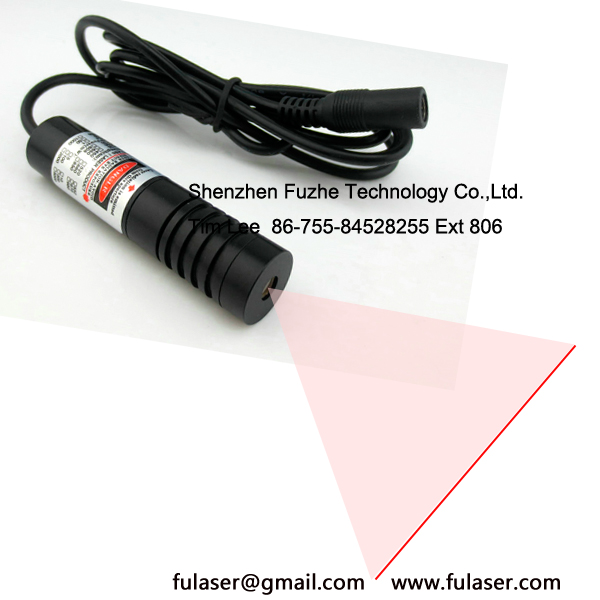 Adjustable focus 640-660nm 100mW CW laser diode line beam 10-15 Deg glass lens