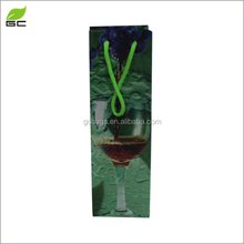 2017High Quality Customized Glossy Wine Bottle Gift Packaging pp plastic Bag