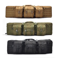 Military tactical gun carry rifle bag 42 '' airsoft double gun case