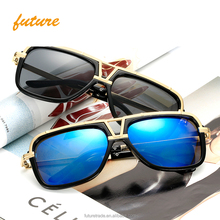 Newest fashion multicolor big square PC alloy material frame polycarbonate lens oversized ladies unisex men polarized sunglasses