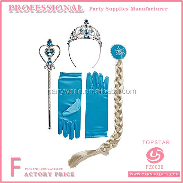 Queen Elsa Princess Anna Magic Wand, Rhinestone Tiaras, Hair Crown & Glove Girl Gift Set