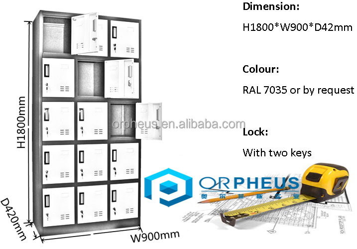 15 Compartment Steel Locker Malaysia Selangor Storage Clothes Cabinet Cage Locker, Compartment Steel Locker