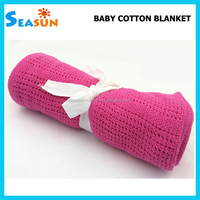 OEM Factory Baby Bedding Cellular Cotton Blanket Newborn Baby Hospital Thermal Blanket