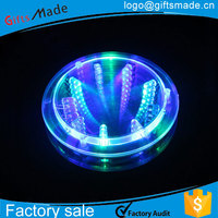 LED lighting sticker, adhesive coaster flash pad / LED coaster sticker for bottle