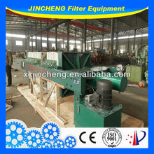 Industrial wastewater treatment chamber filter press