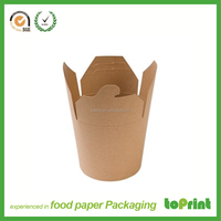 Chinese restaurant paper packaging food container, chinese noodle box