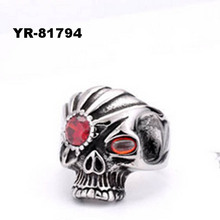 High quality Stainless steel skull ring,male skull ring