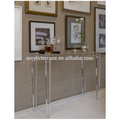 2011507169 Solid Acrylic console table,Lucite side desk