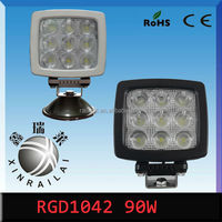 "square9-32v ip68 90w 5.4"" 90w auto led off road light bar RGD1042for engineering vehicles,excavator,train boat."