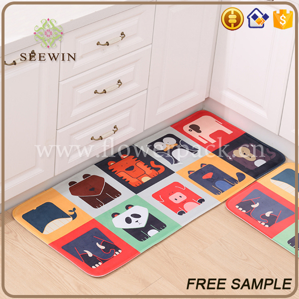 decoration pieces home colorful kitchen rug floor mat
