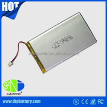 High capacity rechargeable 3.7V 8000mah li-polymer battery DTP858095