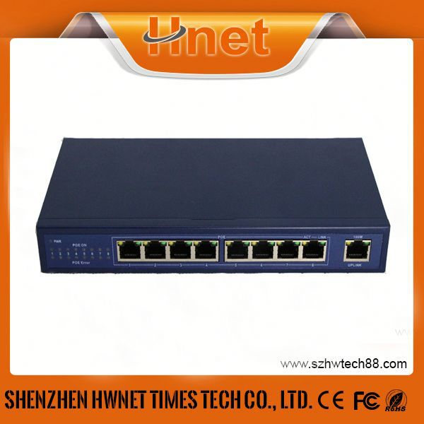 Fully IEEE802.3af standard POE siwtch 9 Port power over ethernet poe switches with 8 poe ports