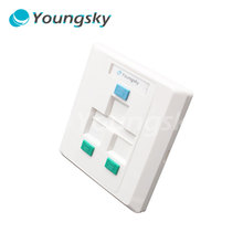 Outlet wall plate with led night light with rj45 socket wall face plate