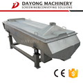 small linear vibrating screening machine for indoor use in a meat processing plant