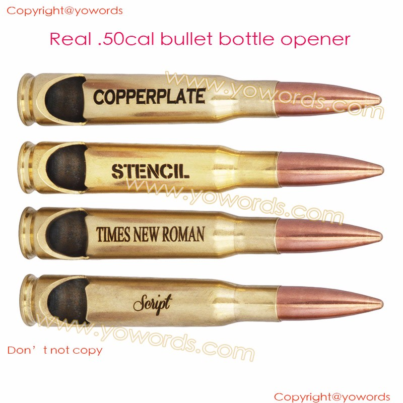 50 BMG Bullet Utensils Custom Dinnerware Spoon Fork Knife Set