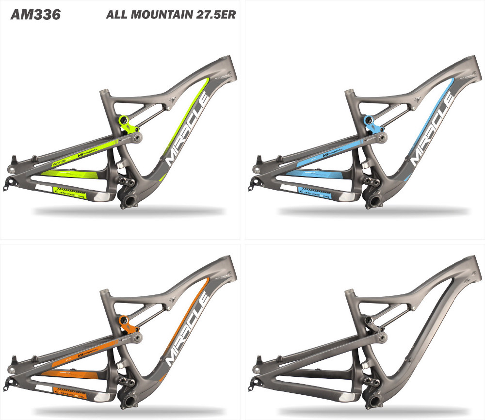 Latest design 650B AM bikes carbon frame 27.5er All Mountain bikes carbon frame