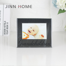 Jinnhome New Design High Quality Glass Photo Frame Glitter Picture Frame Baby Boy Photo Frame