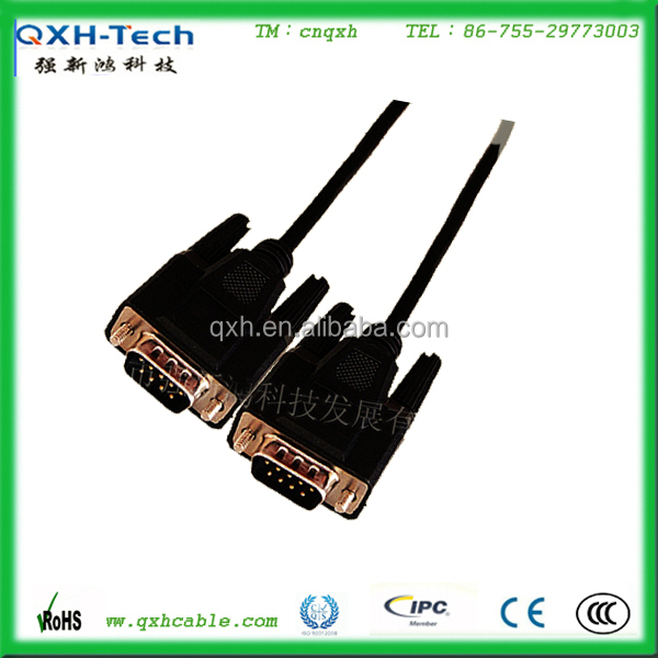 Top Qulity DB9 Series Male to Male VGA Cable