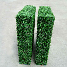 GNW BOX016 china factory artificial plastic boxwood hedge for wall decoration