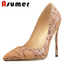Asumer latest handmade new fashion high heels womens shoes