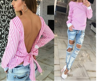 C72705A New fashion sexy backless for woman blouse designs