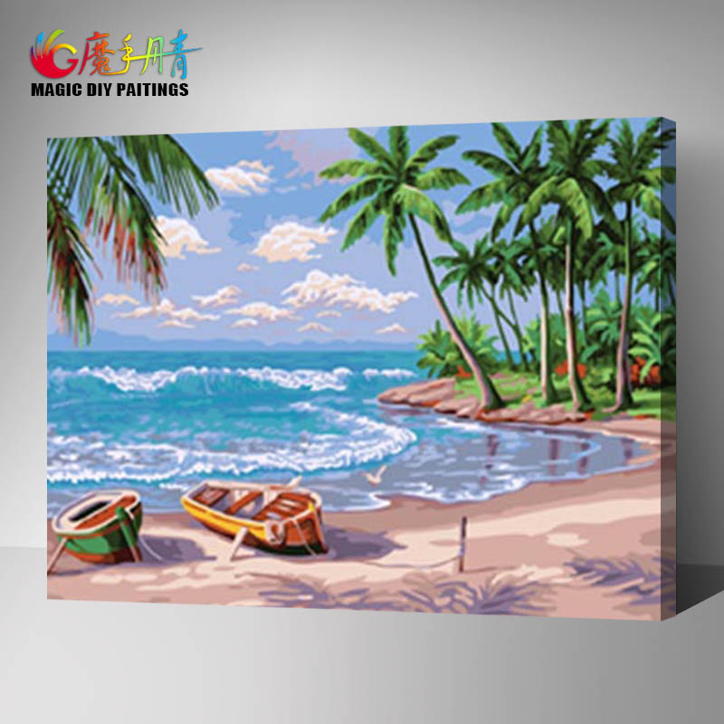 lovequeen landscape diy canvas oil art decorative painting by numbers